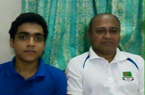 Rohan Ibne Imtiaz with his politician father