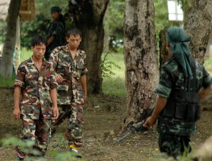 NSCN (I-M) cadres at Camp Hebron.Photo:SUBHAMOY BHATTACHARJEE