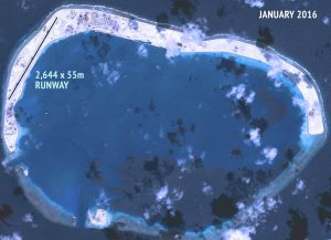 China making an airstrip in disputed Mischief Reef in South China Sea REUTERS
