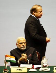 Modi with his Pakistan counterpart